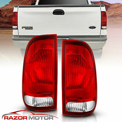 $35.69 • Buy 97-03 Ford F150/99-07 F250 F350 SuperDuty Clear Red Replacement Tail Light Pair