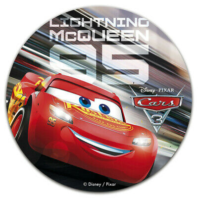 Disney Cars Lightning Mcqueen - Edible 7.5  Round Cake Topper Icing Sheet #3 • 3.75£
