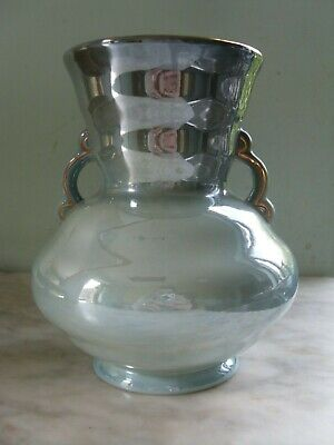 £25 • Buy MALING 120 Spiral Lustre Ware Duck Egg Blue Twin Handle Vase Newcastle Upon Tyne