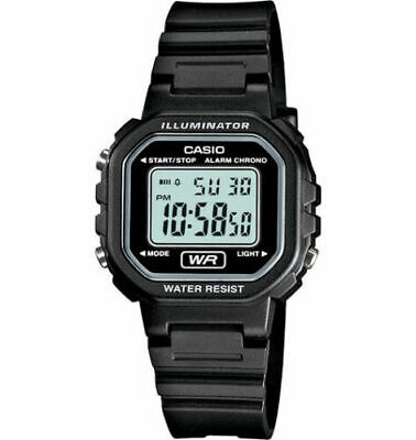 $ CDN21.25 • Buy Casio LA20WH-1A,  Women's Black Resin Watch, Chronograph, Alarm, Illuminator