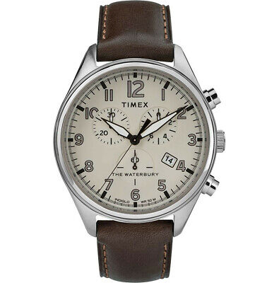 $89.40 • Buy Timex Waterbury Traditional Quartz Beige Dial Men's Watch TW2R88200 *Open Box*
