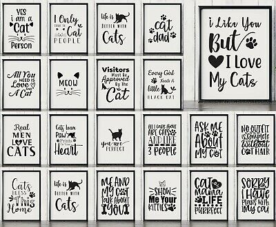 Cat & Kitten Wall Art , Posters , Quotes & Typography Prints  • 3.99£