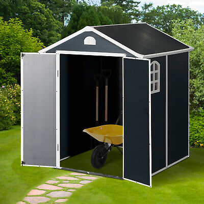 Outsunny Garden Storage Shed Outdoor Patio Shed W/Latch Window - 6ft X 6ft • 529.99£
