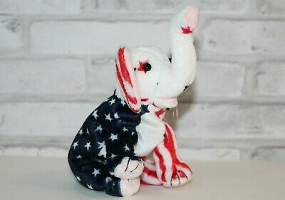 $699.99 • Buy Retired Ty Beanie Baby  Righty  Elephant Republican 2000 ELECTION America FLAG