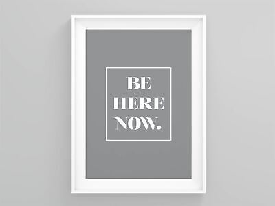 Be Here Now Home Wall Décor Affiche Scandinave Typography Poster Wall Prints • 6.49£