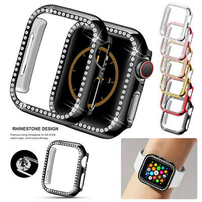 $ CDN6.22 • Buy For Apple Watch Series 5 4 3 2 1 Diamond Bling Hard Case Cover Protector 38/40mm
