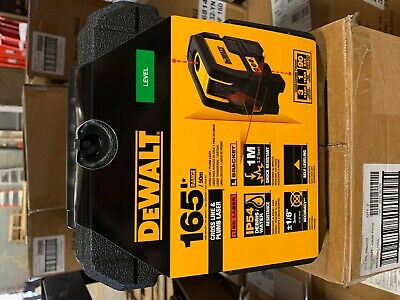 $229 • Buy DEWALT 165 Ft. Red Self-Leveling Cross-Line And Plumb Spot Laser Level -DW0822