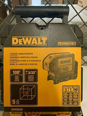 $169 • Buy DEWALT 100 Ft. Red Self-Leveling 5-Spot Laser Level - DW085K