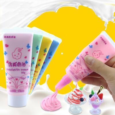 50g Fake Whipped Cream Clay DIY Kawaii Cupcake Cell Phone Case Deco Den DIY T9P1 • 2£