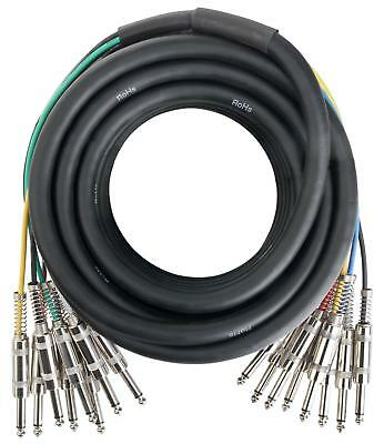 Jack Multicore Cable Loom Stage Snake Audio 6.3mm Jack 8-Channels 10m DJ PA • 33.99£
