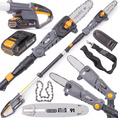 £112.88 • Buy CORDLESS ELECTRIC TREE POLE SAW CHAINSAW PRUNER TELESCOPING BRANCH TRIMMER 2Ah