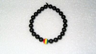 $10.25 • Buy Rasta Reggae Colors Bead Bracelet Stretch Jewelry Rastafarian Music Jamaica Mon