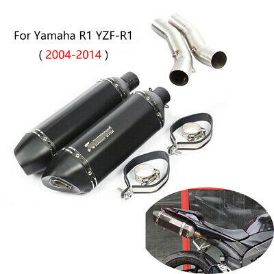 $267.26 • Buy 2004-2014 YZF-R1 Exhaust Pipe For Yamaha Motorcycle Slip On 51mm Mid Muffler L R