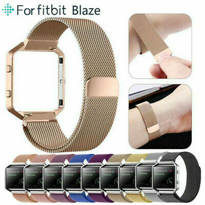 $ CDN8.25 • Buy For Fitbit Blaze Watch Stainless Steel Loop Strap Wrist Band+ Frame Replacement