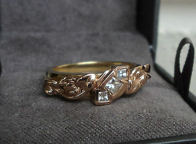 Clogau Welsh 18ct Yellow & Rose Gold Tree Of Life 3 X Diamond Ring - Size  L  • 795£