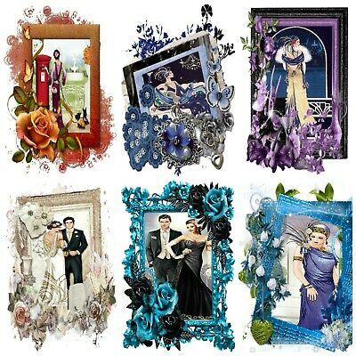 £2.90 • Buy YESTERYEARS  ART DECO  Card Making Toppers, Card Toppers (12)