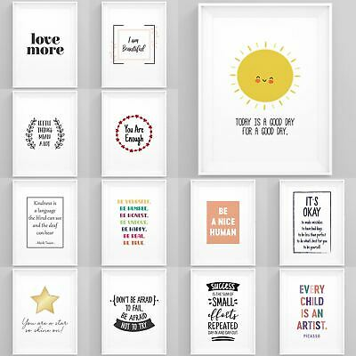 £6.49 • Buy Inspirational Quotes And Sayings Framed Prints Wall Art Home Decoration