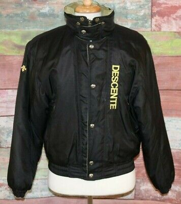 $69.99 • Buy Vintage Descente Ski Winter Jacket BLACK Retro Mens Medium 1990's Heavy