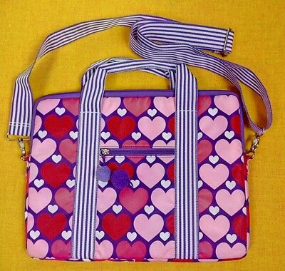 £10.09 • Buy Justin Bieber Pink/White Hearts. Laptop Tot Bag With Strap. Beautiful Cond.#P2