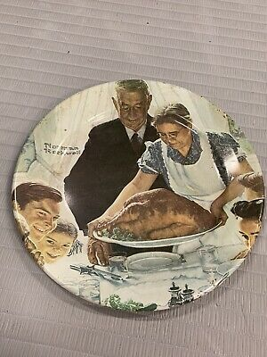 "$ CDN10 • Buy Norman Rockwell Wall Plate "" Freedom From Want "" Hanging Decoration 1979 USA 10"""