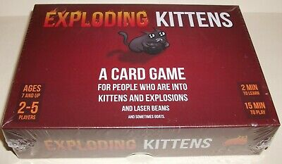 AU22.95 • Buy Exploding Kittens Card Game - Original Edition - Brand New Factory Sealed