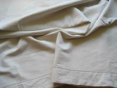 Large Unused Vintage French Linen Metis Sheet Or Curtain, Tablecloth, Projects • 45£