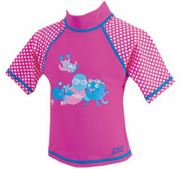 £1.39 • Buy NEW GIRLS ZOGGS PINK SHORT SLEEVE UPF 50+ PROTECTION SUN TOP AGE 6-12 Months