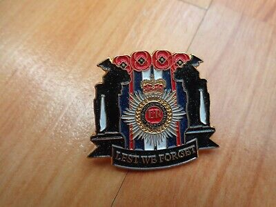 £9.99 • Buy Classic Glasgow Rangers Fc 'lest We Forget' Enamel Remembrance Poppies Pin Badge