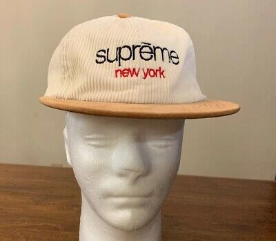 $ CDN138.21 • Buy Supreme Logo Corduory 6-panel Off-white Os Fw19 Hat, (in Hand) Fast Shipping