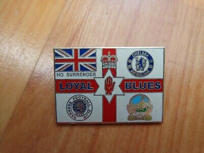 £7.99 • Buy Classic Rangers Chelsea & Linfield 'loyal Blues' Blue Brothers Loyalists Badge