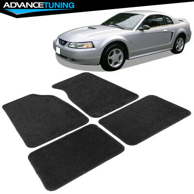 $40.99 • Buy Fits 99-04 Ford Mustang 2Dr Black Nylon Front & Rear Car Floor Mats 4Pc