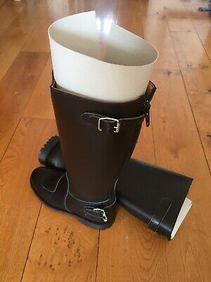 GTH, Trophy, Full, Chrome, Leather, Police Motorcycle Boots - New In Box • 150£