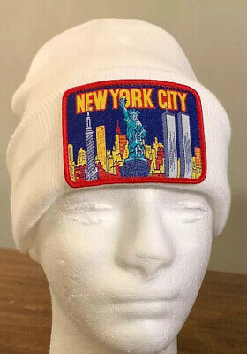 $ CDN88.36 • Buy Supreme/ Ny Patch Beanie White Os, Fw19 Week 13, Authentic (in Hand) Brand New