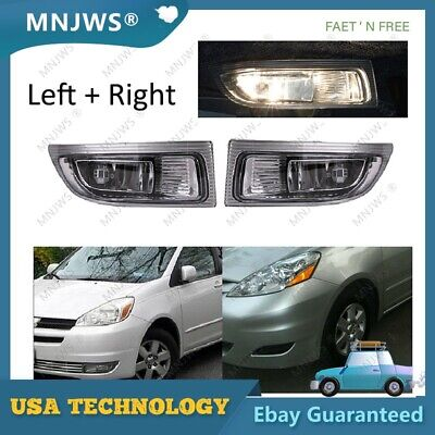 $38.58 • Buy 2pcs Left & Right Front Fog Driving Lamps Lights Bar For 04-05 TOYOTA SIENNA US