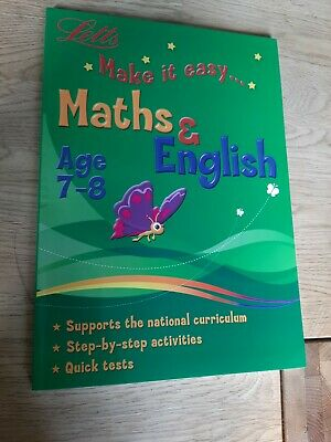 Childrens 7-8 Years Maths Book English Book Home Schooling Activity Book  • 6.99£