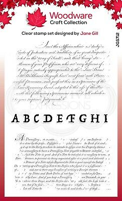 TEXT BACKGROUND - Clear Magic Stamp - Woodware • 5.49£
