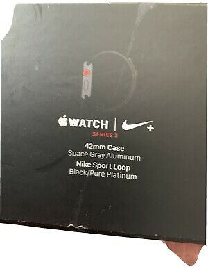 $ CDN174.55 • Buy Apple Watch Nike+ Series 3 (42mm) GPS + LTE Space Gray Aluminum/Black Sport Loop