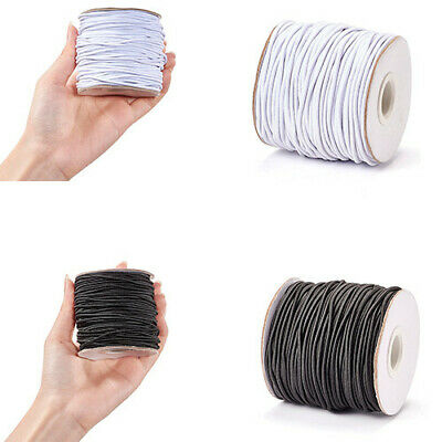 $ CDN16.78 • Buy 1Roll WHITE&BLACK Round Elastic Cord String Thread 1.2mm 2mm 3mm Jewelry Making