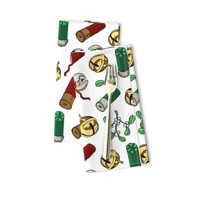 Christmas Hunter' Holiday Gift For Cotton Dinner Napkins By Roostery Set Of 2 • 23.47£