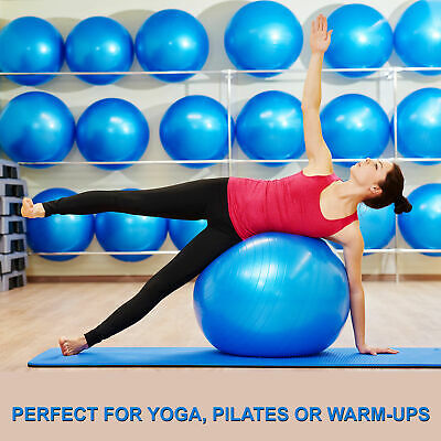 AU23.37 • Buy New Swiss Yoga Ball Pilates Fitness Home Gym Exercise With Foot Pump 65 75 85cm
