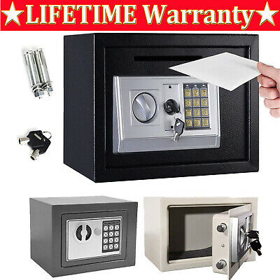 £33.20 • Buy Cheap -steel Safe Digital Key Electronic Security Home Office Money Safety Box😍