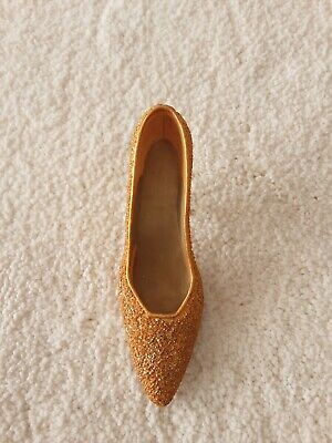 Just The Right Shoe Golden Stiletto Unboxed Pre Owned • 0.99£