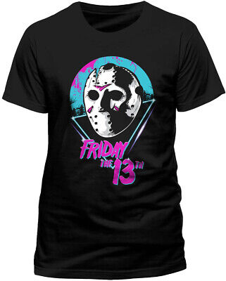 £9.99 • Buy Friday The 13th T Shirt OFFICIAL Jason 80's Mask Classic Horror Film NEW SMLXLXX