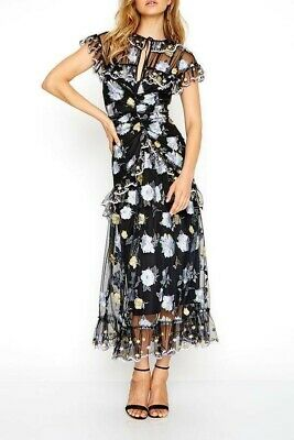 AU169.95 • Buy Alice McCall Floating Delicately Dress In Black - Size 12 RRP $550