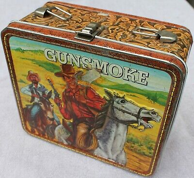$79.99 • Buy Vintage 1973 Gunsmoke Metal Lunch Box By Alladin, Columbia Broadcasting Systems