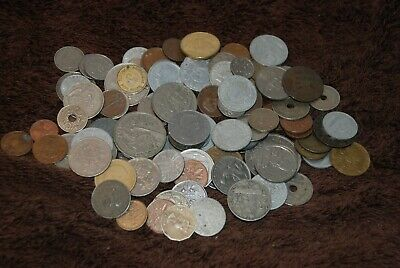 100 X Old Vintage Foreign Coins. Mixed Dates & Countries. Lot 2. • 0.99£
