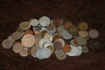 100 X Old Vintage Foreign Coins. Mixed Dates & Countries. Lot 3. • 0.99£