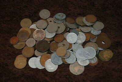 100 X Old Vintage Foreign Coins. Mixed Dates & Countries. Lot 4. • 0.99£