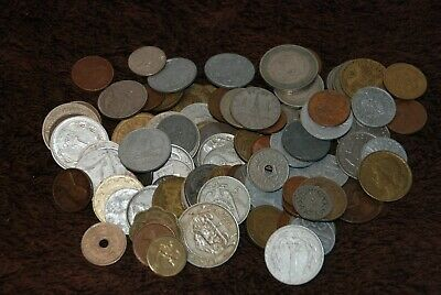 100 X Old Vintage Foreign Coins. Mixed Dates & Countries. Lot 5. • 0.99£