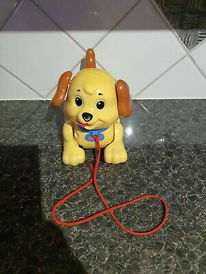 Mattel - Fisher Price -  Lil Snoopy  - Pull Along Dog - 2003 • 5£